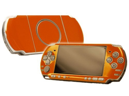 Citrus Orange Vinyl Decal Faceplate Mod Skin Kit for Sony PlayStation Portable 3000 Console by System Skins