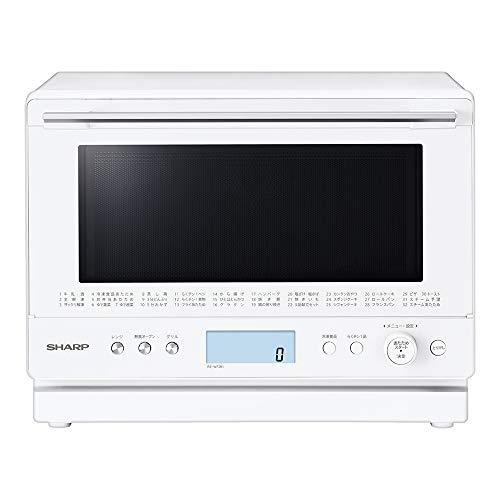 シャープ スチーム コンベクション オーブンレンジ 2段調理 PLAINLY ワイドフラット 26L ホワイト RE-WF261-W