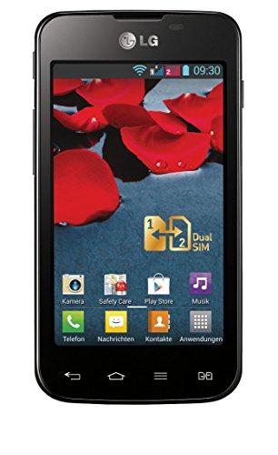 LG E455 Optimus L5 II 10,2 cm (4 Zoll) Smartphone (1GHz, 4GB, 5MP, Dual SIM, microSD, IPS, GPS, Bluetooth, USB, WLAN, OEM) schwarz