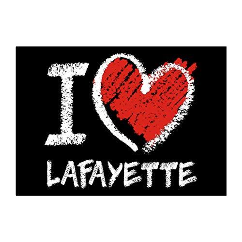 Teeburon I Love Lafayette Chalk Style Sticker Pack x4 6'x4'