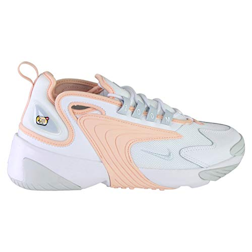 Nike Womens WMNS Zoom 2K Running Shoe, White/Aura-Washed Coral