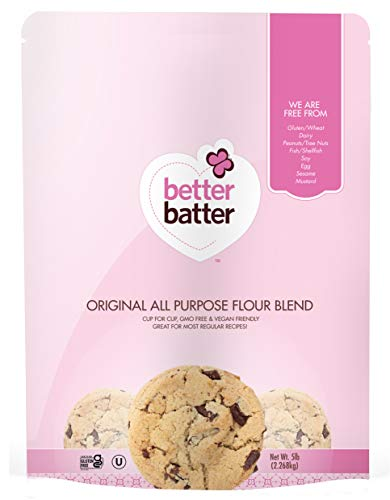 Better Batter Original Blend Gluten-Free Flour, A Cup for Cup Alternative to Ordinary Flour, 5LB Pouch