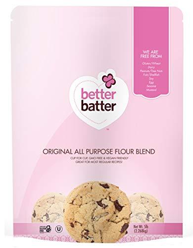 Better Batter Original Blend Gluten-Free Flour, A Cup for Cup Alternative to Ordinary Flour, 5LB Pouch