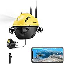 Chasing F1 Fishing Finder; Underwater Drone Portable with 1080P Full HD Camera & Night Infrared Scene; 96 FT Depth and Temperature Detection; Real-time Display;Underwater Drone; ice Fishing