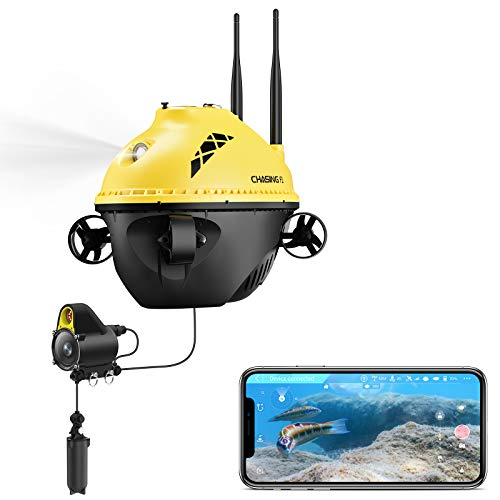 ChasingF1 Fishing Finder; Underwater Drone Portable with 1080P Full HD Camera & Night Infrared Scene; 96 FT Depth and Temperature Detection; Real-time Display;Underwater Drone; ice Fishing