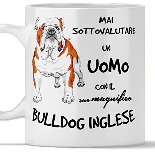 Englische Bulldogge-Tasse für Herren, geeignet für Frühstück, Tee, Kaffee, Cappuccino, Gadget-Tasse für Männer mit einem englischen Bulldoggen-Hund,...