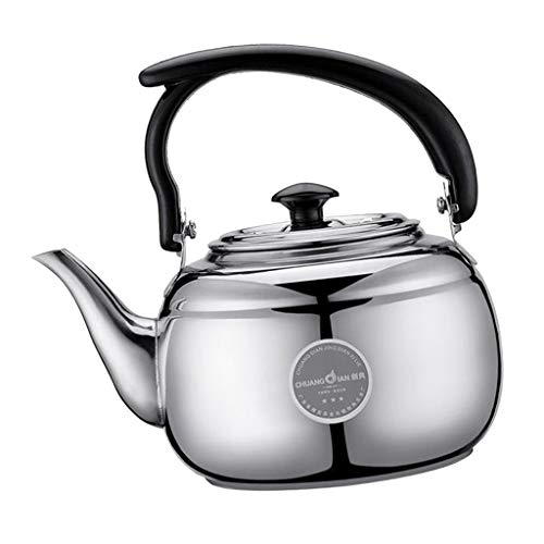 SM SunniMix 1 Liter Teapot Stainless Steel Coffee Tea Kettle Induction Stovetop Tea Pot Office Hot Water Fast Boiling, Best Gift for Tea Lover, 2 Colors to Choose - Silver