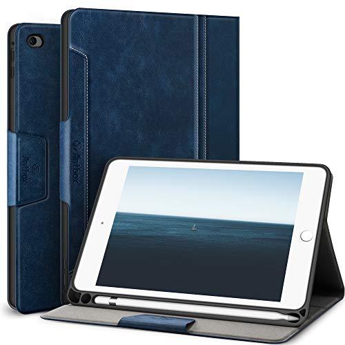 Antbox Hülle für iPad Mini 5 2019 7.9 Zoll/iPad Mini 4 mit Apple Pencil Halter Auto Schlaf/Wach Funktion PU Ledertasche Schutzhülle Smart Cover mit Stand Funktion (Blau)