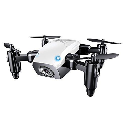 S9 Mini Drone con cámara, WiFi FPV RC Quadcopter con cámara HD, Selfie Pocket Drone para niños y principiantes, Drone plegable con...