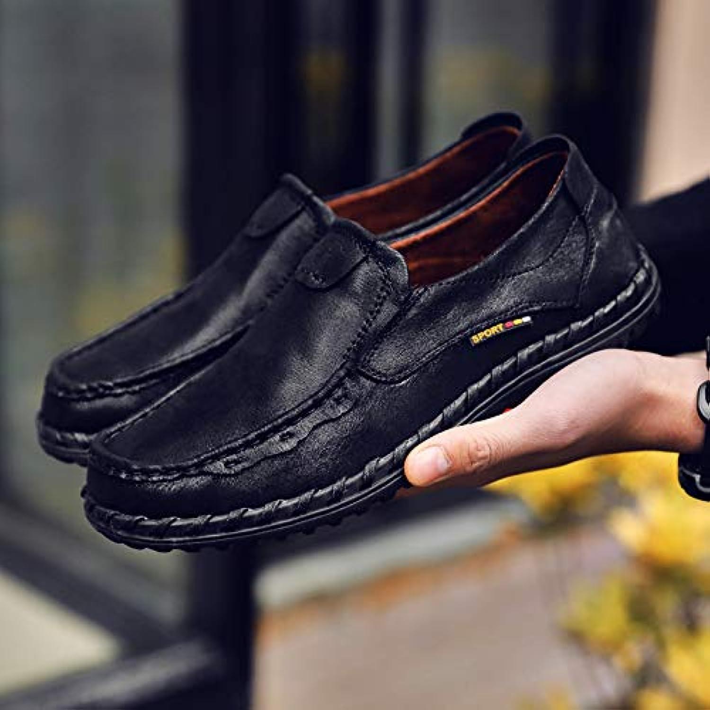 LOVDRAM Men'S shoes Fashion Men'S shoes Men'S Round Head Cloth Casual Peas shoes Low Heel