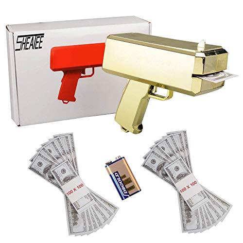 Sheatee Pistola Soldi Pistola Super Pistola a spruzzo Pistola Dollaro Pistola Soldi Pistola Che spara Soldi Farlo sparare Soldi Pistola a Pioggia - Cash Game Divertente Gioco di Soldi (Original)