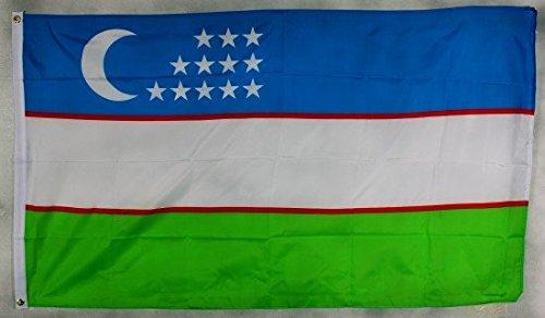 Flagge Fahne Usbekistan 90x60 cm wetterfest und lichtecht für innen und aussen