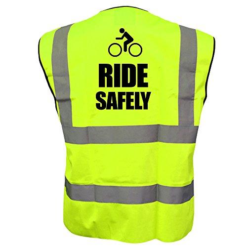 Ciclista gilet ad alta visibilità Ride in modo sicuro ad alta visibilità di sicurezza riflettente della bicicletta gilet