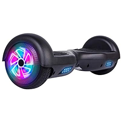 Felimoda Self Balancing Hoverboards with LED Light,6.5 Inch Two Wheel Smart Electric Scooter for Kids and Adults-UL2272 Certified (Black)