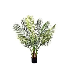 Silk Flower Arrangements GreenBrokers Artificial 135CM Areca Palm Tree, Potted Plant A1047