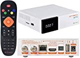 GT MEDIA GTC Satellite Receiver Android 6.0 TV Box 4K DVB-S/S2 DVB-T/T2/Cable 3D H.265 10bit MPEG-2/4 PVR Recording Smart TV Box WiFi 2.4Ghz BT 4.0 Live FTA Satellite TV Receiver