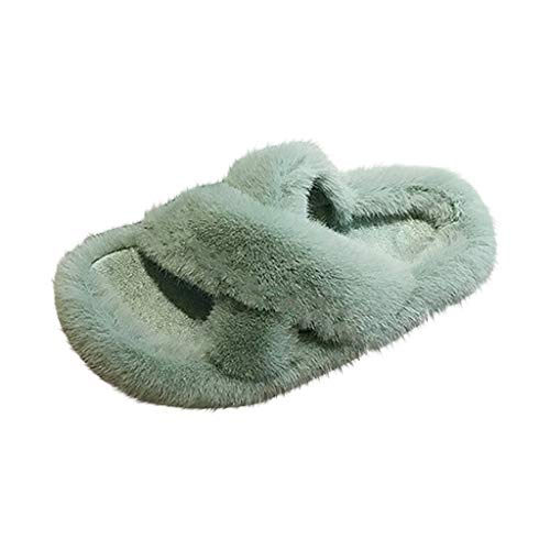 Review Of Sumeimiya Womens Soft Plush Lightweight House Slippers Non Slip Cross Band Slip on Open To...