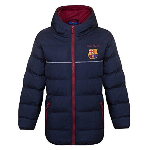 FC Barcelona - Plumífero acolchado oficial con capucha - Para niño - 2-3 años