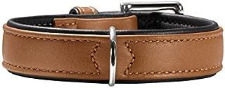 hunter Soft Canadian Elk Leather Dog Collar, 40 cm, Cognac/Mocca