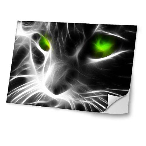"""Virano Lebendige 10005, Katze, Skin-Aufkleber Folie Sticker Laptop Vinyl Designfolie Decal mit Ledernachbildung Laminat und Farbig Design für Laptop 17\"""""""