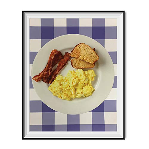 My Party Shirt Breakfast Ron Swanson Office Poster Parks and Recreation 11' x 17' Rec Bacon Egg