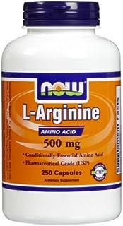 Now Foods L-Arginine, 250 Caps 500 mg