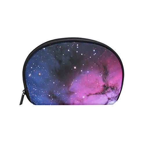 FAJRO Kosmetiktasche, klein, Galaxie-Muster, Rot / Blau