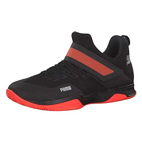 PUMA Rise XT 3, Zapatos de Futsal Unisex-Adulto, Black-Silver-Nrgy Red, 43 EU
