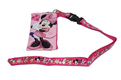 Disney Mickey Minnie Cars Id Ticket Iphone Key Chain Badge Holder Wallet Collection (minnie)