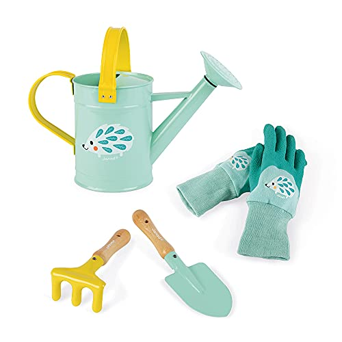 Janod- Gardener Set, Color Azul/Amarillo (Juratoys J03187)
