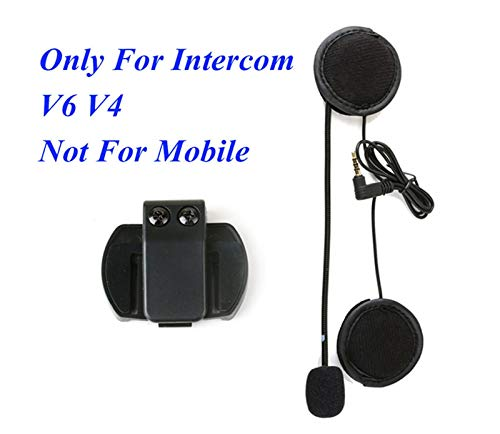 GUANGGUANG Heartwarming Shop VNETHTHIPE 3.5MM Auriculares de Altavoz de micrófono y Clip de intercomunicación del Casco Ajuste para V4 V6 Motorcycle Bluetooth Interphone