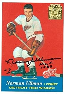 Autograph Warehouse 63162 Norm Ullman Autographed Hockey Card Detroit Red Wings 2002 Topps Archives No. 46