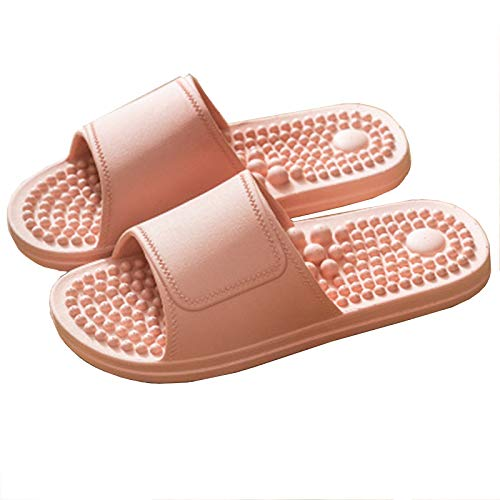 Asely Acupoint Reflexology Massage Slippers, Quick Dry Bathroom Shower Slippers, Women Massage Reflexology Sandals,Massage Non Slip flip Flop Slippers for Women (Pink, 40/41)
