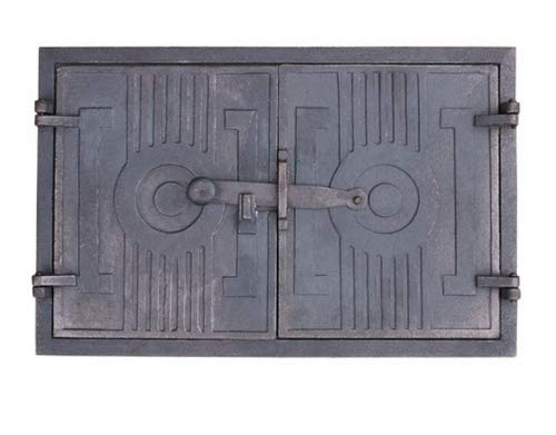 QLS Brotofentür Holzofentür Ofen Ofentür aus Gußeisen Backofentür Stein 43 x 27 cm