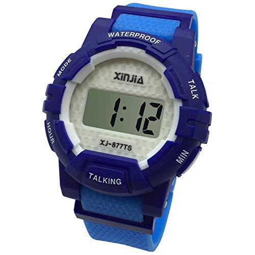 Azul Reloj Parlante en Español para Ciegos, Niños, y Los Ancianos, Deportes Electrónicos Hablar Relojes Gatget Regalo 8-877TS(BLU-2)