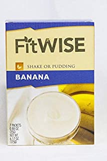Healthwise - Tropical Banana Pudding/Shake Mix - 15 Grams of Protein, 90 Calories Zero Grams of Fat, Hunger Suppressant, Appetite Control for Weight Loss - 7 Packets 0.88 OZ NET WT 6.17 OZ