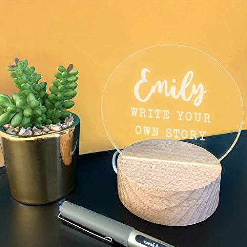 Personalisierte Mini LED Schreibtisch Lampe - Geschenk zum Schulabschluss Uniabschluss - originelle Geschenkidee für Mann und Frau - Nachttischlampe - 7 Farbeinstellungen