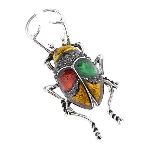 Hellery Miel Abeja Broches Cristal Insecto con Temática Insecto Broche Moda Animal Rhinestone Broche Pin - Amarillo l, Tal como se Describe