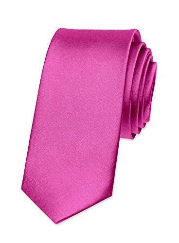 Autiga Krawatte Herren Hochzeit Konfirmation Slim Tie Retro Business Schlips schmal pink