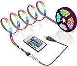 Luci USB ha Condotto la Striscia, Le luci della Corda USB con 24 Tasti a Distanza, la Decorazione Fai da Te, retroilluminazione del televisore for 6,56 Piedi 40-60in