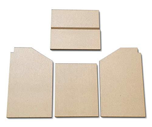 Feuerraumauskleidung für Varde Ovne Luxe 1 Kaminöfen - Vermiculite - 5-teilig