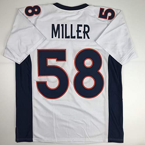 Unsigned Von Miller Denver White Custom Stitched Football Jersey Size Men's XL New No Brands/Logos