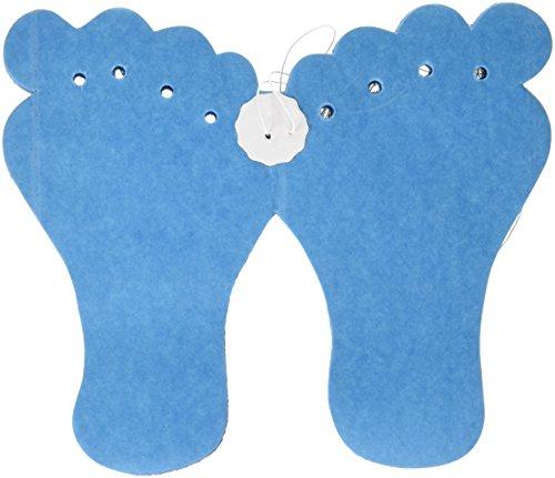 6m Papier Girlande Füßchen Blau Geburt Junge