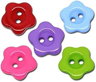 10 en bois Flatback Boutons cœurs rouges 2 trou spots 15 mm Sewing Craft UK Vendeur