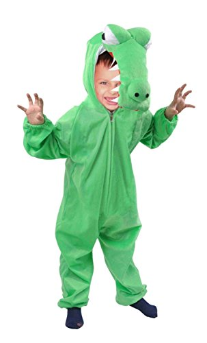 Krokodil-Kostüm, An64 Gr. 98-104, für Kinder, Krokodil-Kostüme Krokodil für Fasching Karneval, Alligator Klein-Kinder Karnevalskostüme, Kinder-Faschingskostüme, Alligatoren Geburtstags-Geschenk