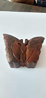 Arts Of Creation Mystery Box Wooden Puzzle Toys and Games Butterfly Shape Secret Storage Handmade by Indian Birthday Gift Wedding Gift