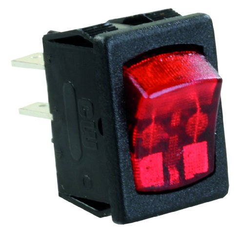 JR Products 12765 Red/Black SPST Mini-Illuminated On/Off Switch