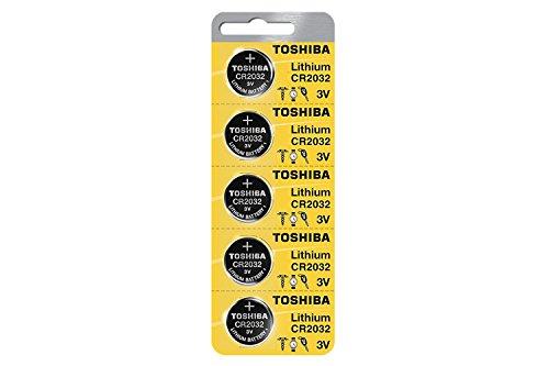 Toshiba Batterie au lithium CR2032 3 V 1 Lot (5) Piles à usage unique