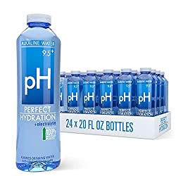 top 10 alkaline waters Perfect Hydration 9.5+ pH Electrolyte Drinking Water, 20 oz, 24 Bottles