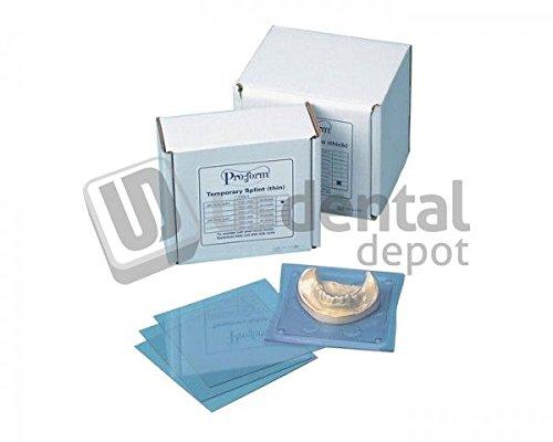 KEYSTONE - Splint Material - .020in (0.5mm) - 50pk - 5in x 5in Sheets- (K# 9614800) (5X5in) [ - Stiff Clear Material - Acrylic Sticks to Material - for Hard splints- sur 101184 Us Dental Depot